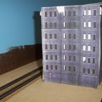 Beeney Warehouse Cardboard Mockup from northwest