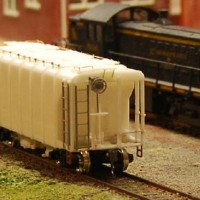 B&O Wagon Top Hopper before painting  (F&C Kit)