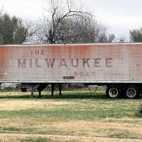 Old Milwaukee Road trailer, 11-28-08, Springfield, MO