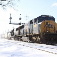 CSX4586 Northbound manifest Wyoming OH, 1-30-09