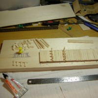 Small balsa wood bridge