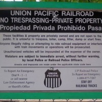 U.P. No Trespassing Sign