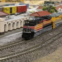 UP 1996 (Kato SD70ACe) leads a NB intermodal