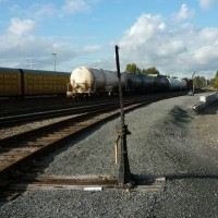 A string of tank cars