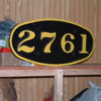 C&O 2-8-4 number board