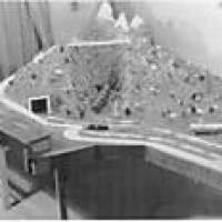 First Layout 1937 Royal Gorge with Grand Trton Mountains behind. R
