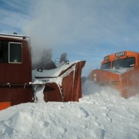 BNSF Snow Plow In Nebraska