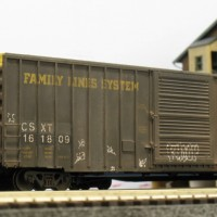 Family Lines excess height boxcar