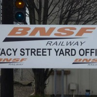 BNSF Stacy Street Sign