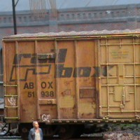 Rail Box weathered cars
