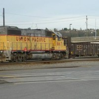 UP 667 Pulls a cut out