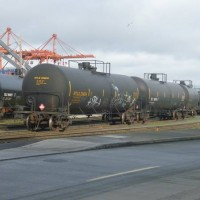 Tank cars spotted at Seattle Bulk Rail
