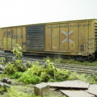 Weathered boxcars for Sweethome Alabama