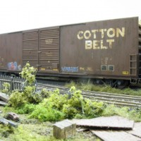Recently weathered boxcars