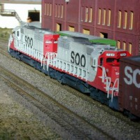 Soo SD40-2's 764 and 774