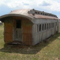 Train Car in Field
