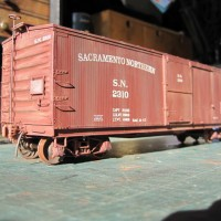 Sacramento Northern Boxcar in O scale.