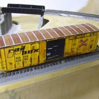 Weathered Athearn FMC Railbox Boxcar