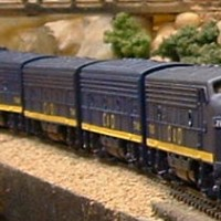 Bachmann N scale C&O F7s