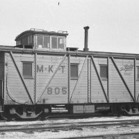 MKT OKC  March 1957  yellow caboose 805