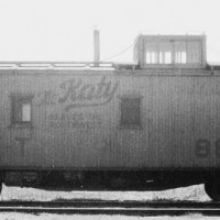MKT OKC  March 1957  yellow caboose 882