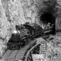 Rock tunnel at Silver Valley RR