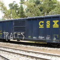 weathered freight car