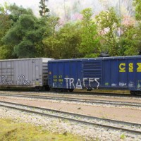 Weathered freight cars