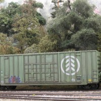 weathered boxcar