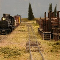A narrow gauge siding