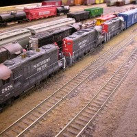 Four Stack GP9 Plus Two with V&O Boxcars