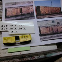 Applying ACY Boxcar Decals
