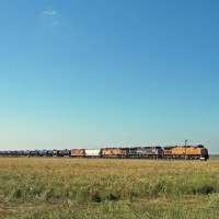 Train on the prairie