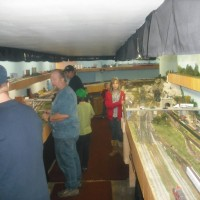 Member Clarke and Josh operating trains