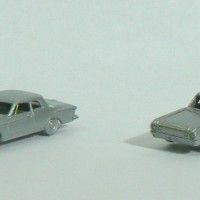 N Scale Plymouth Fury and Dodge 330