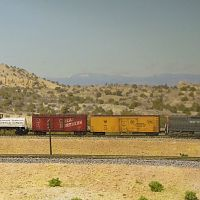 Southern Pacific SD7 # 5309 with short train