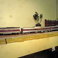 MBTA Commuter Train.  F Unit and Budd cars.