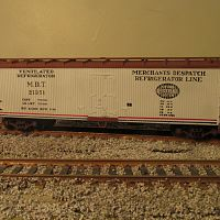Trains Miniature Reefer. All together on the layout.