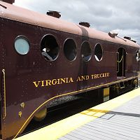 Virginia and Truckee Railway restored McKeen Motor Car.
