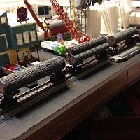 four logging cars