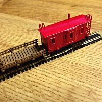 MOW flat car Bay window Caboose
