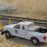Hi-Rail truck made from Atlas Ford F150
