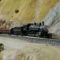 Model Power 4-4-0, really nice locomotive.