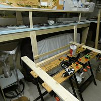 making the new modular shelving layout benchwork