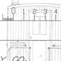 Measuring the width of wall planks by adding a 50 transparency on an other drawing