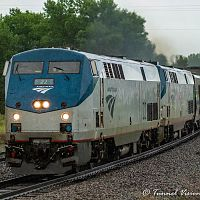 """Amtrak in a Downpour"""