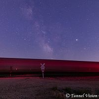 """Ghost Train Under the Milky Way"""