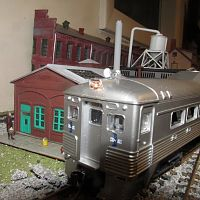 IAthearn Buddliner with working headlamps on my layout.
