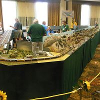 Peninsula Ntrak layout at the 2015 N Scale Convention.