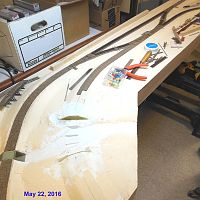 Laying track on Wesso section - May 2016